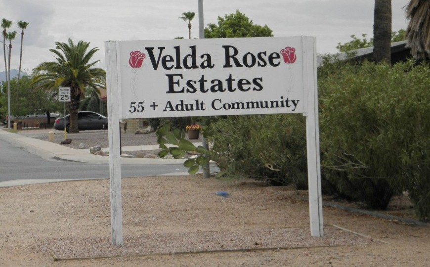 Velda Rose - Mesa AZ community sign